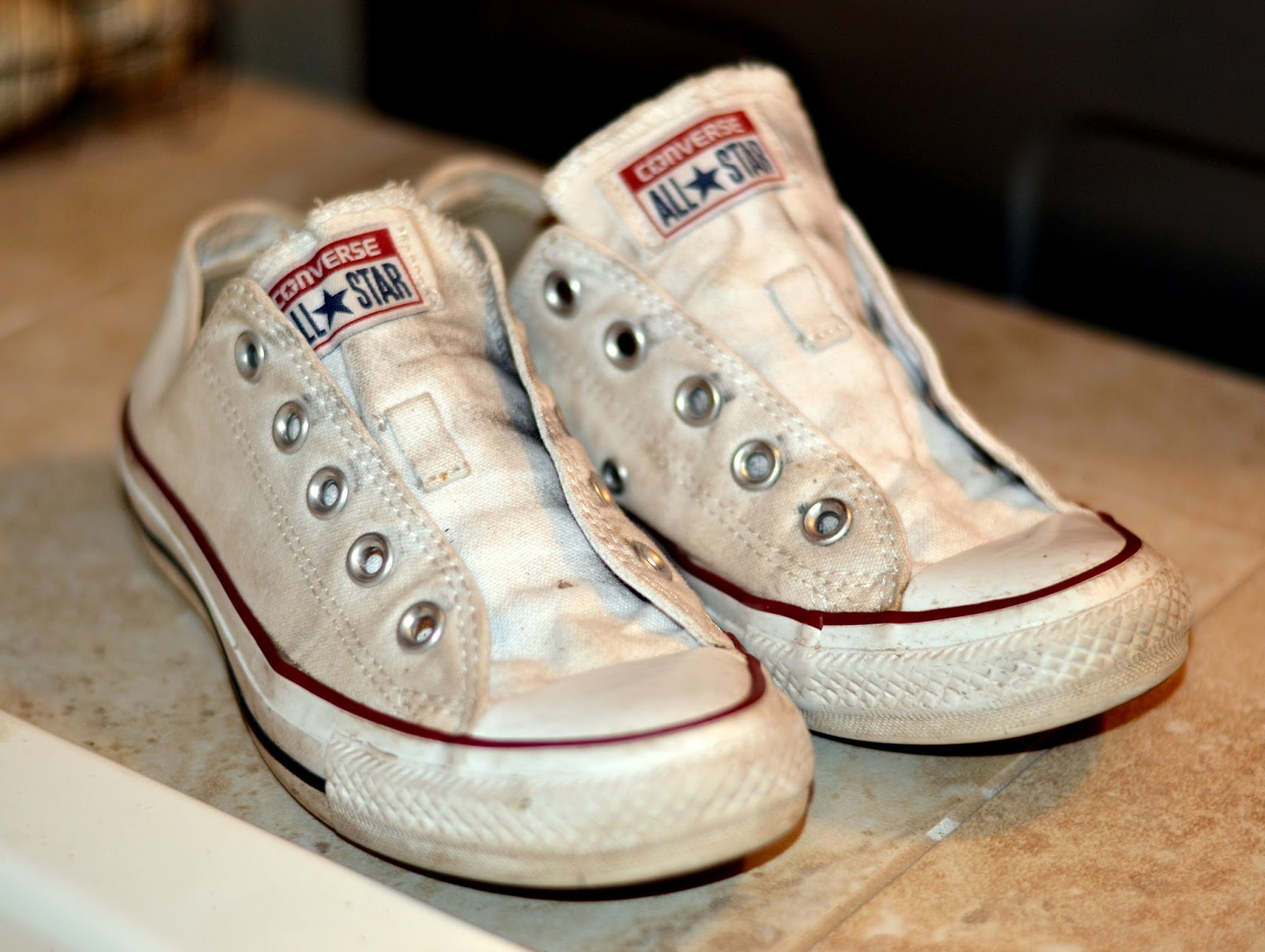 Oxiclean White Canvas Shoes