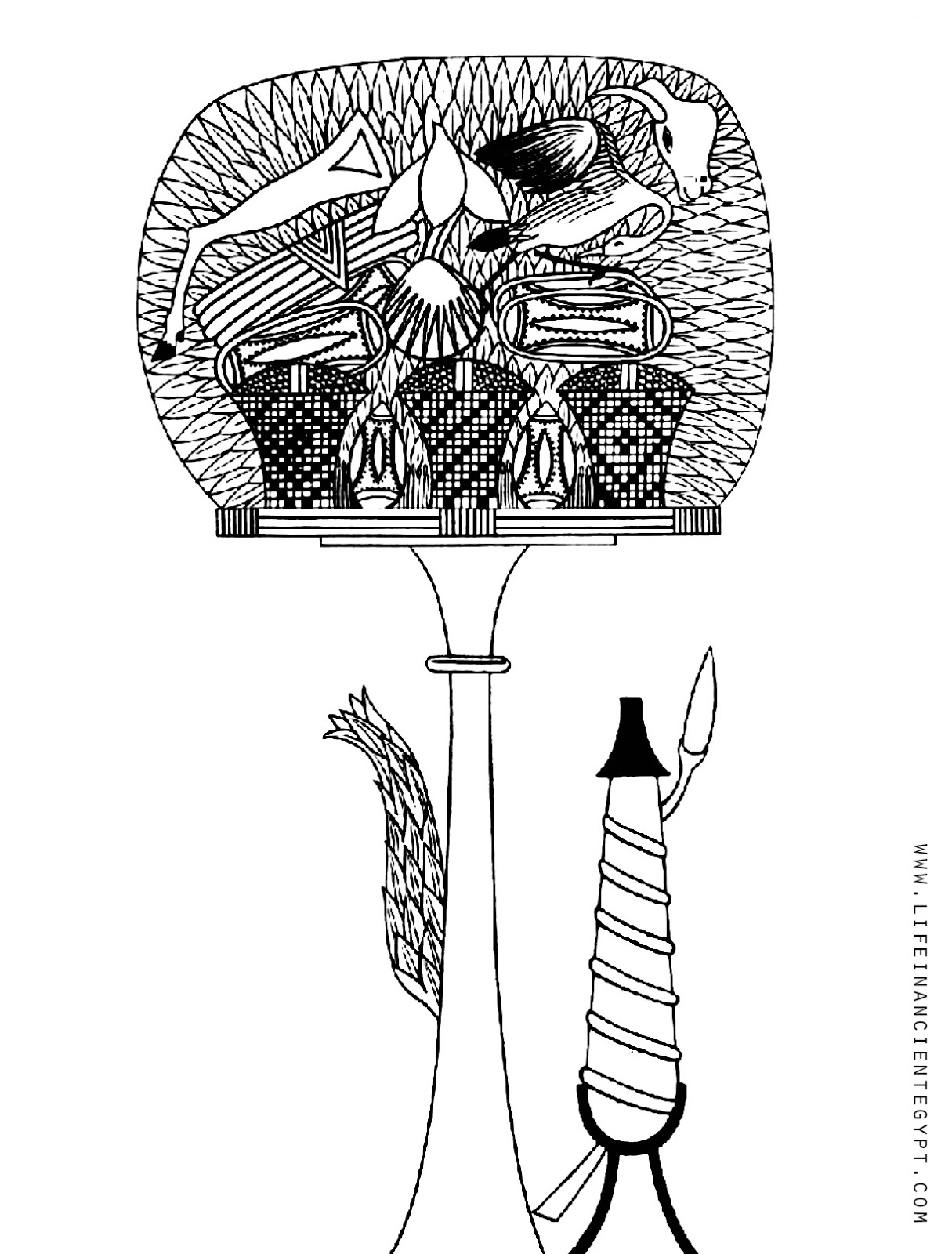 Free Printable Ancient Egyptian Adult Coloring Page