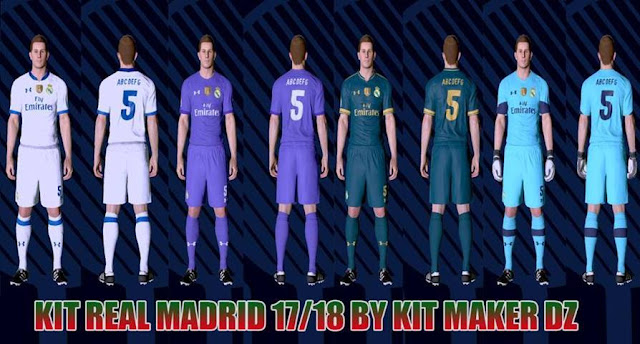 Real Madrid Under Armour 17/18 Kit PES 2017