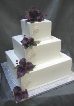 3 Tier square wedding cakes white style ~ Wedding Ideas ...