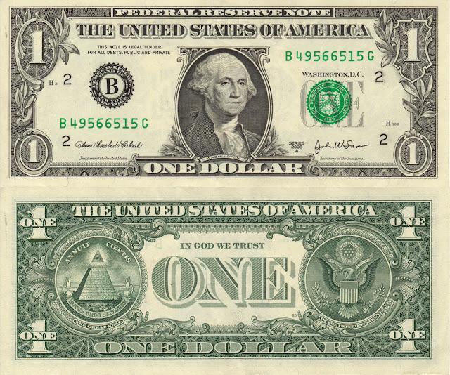 Rahsia Wang Kertas 1 Dollar Amerika Syarikat