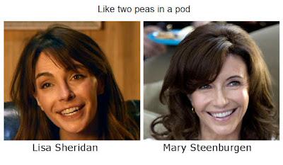Lisa Sheridan Mary Steenburgen doppelgangers