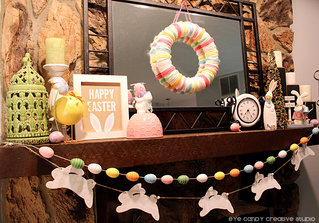 Eye Candy Creative Studio DECOR Easter Mantel Ideas – Easter Mantel Decorations