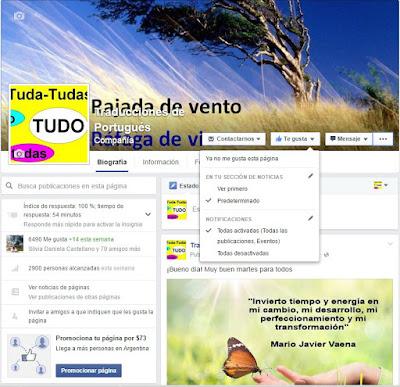 ¿No recibes las notificaciones de Traducciones de portugués en Facebook?