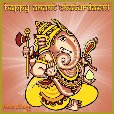 Anant Chaturdashi puja muhurat