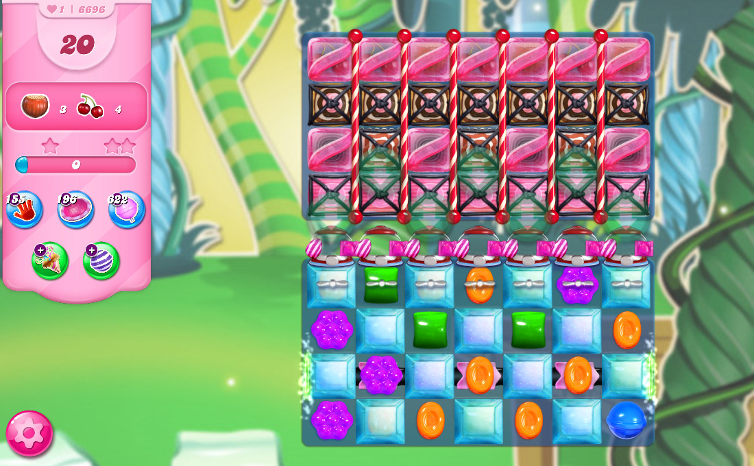 Candy Crush Saga level 6696