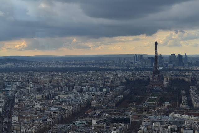 Paris from above, seen from the Montparnasse tower
