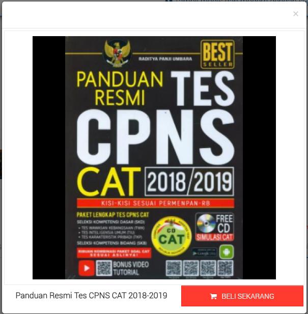 Panduan Resmi Tes CPNS CAT 2018-2019