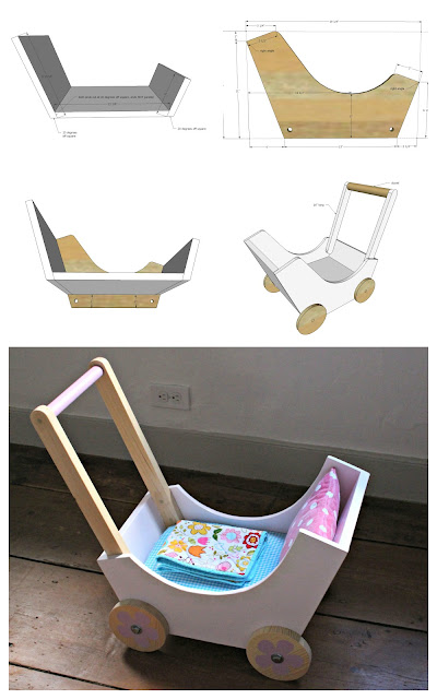 DIY Wooden Baby Pram or Stroller