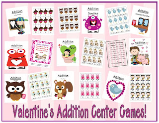 http://www.teacherspayteachers.com/Product/Nine-Valentines-Addition-Center-Games-Great-For-February-192691