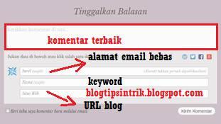 cara menanam backlink pada komentar blog wordpress