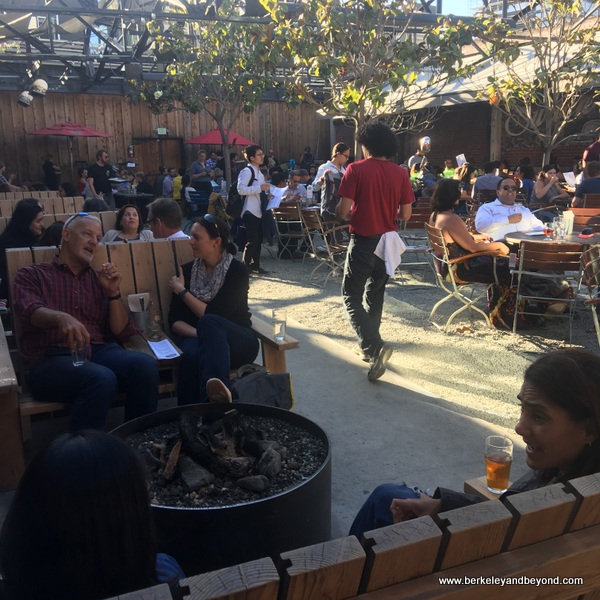 beer garden at Drake's Dealership in Oakland, California