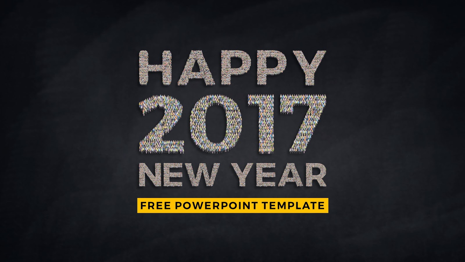 new year people forming characters free powerpoint template, Powerpoint templates