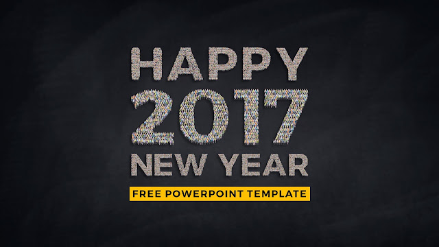 Free Infographic New Year PowerPoint Template Slide 1