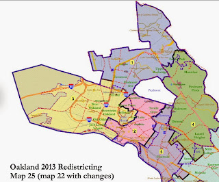 Oakland City Council Considering Redistricting Maps 18, 21-28