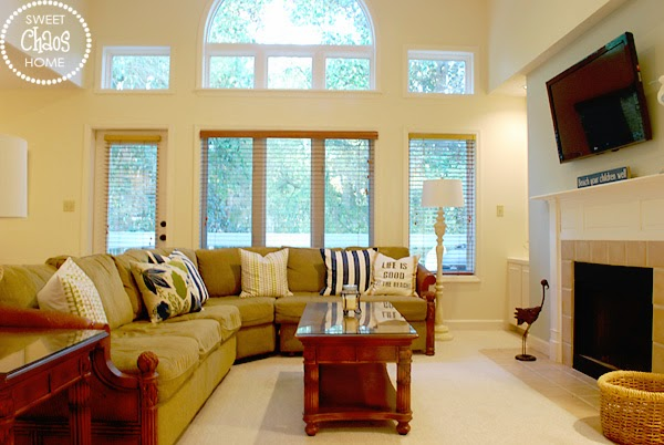 Sweet Chaos Home Beach Villa Makeover Family Room Amp Sun Deck
