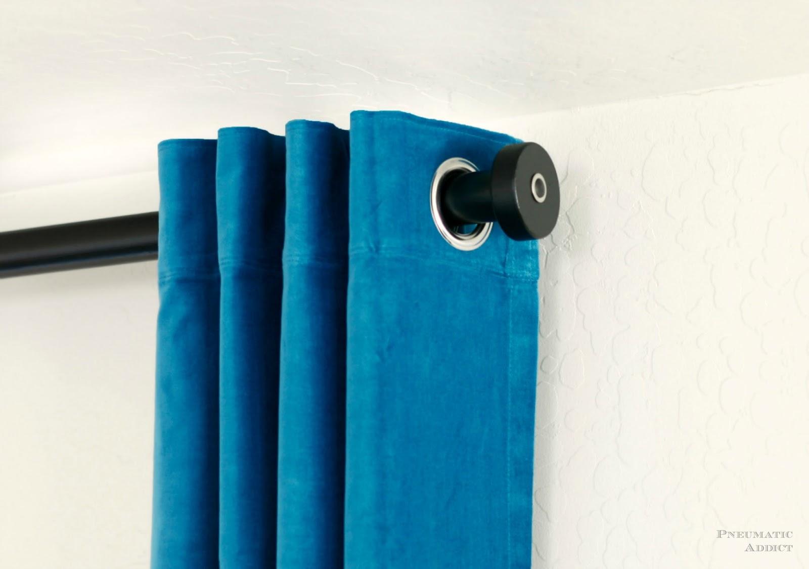 Bamboo curtain rods diy - Pneumatic Addict Modern Curtain Rod And Finial Tutorial