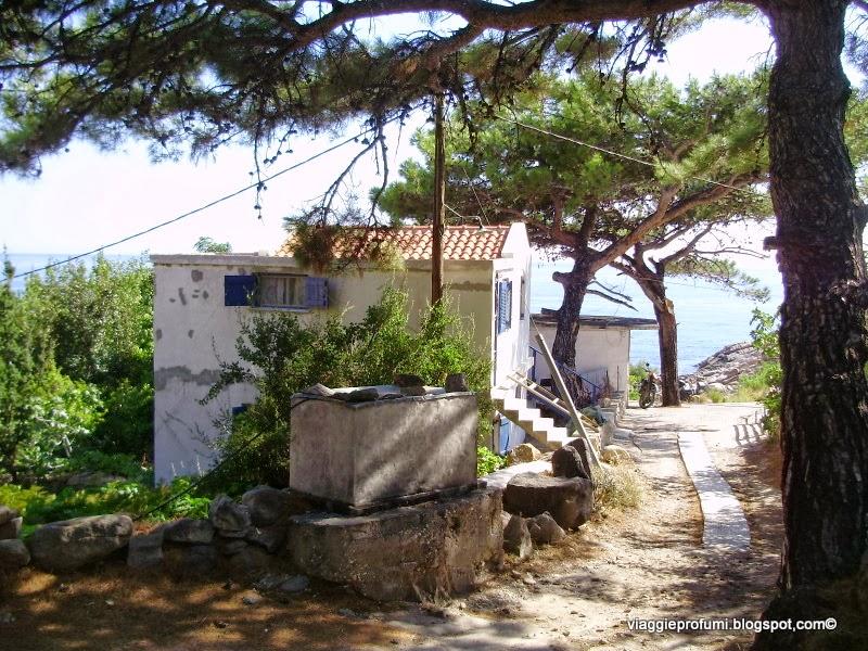 Il borgo di Trapalo, a Ikaria