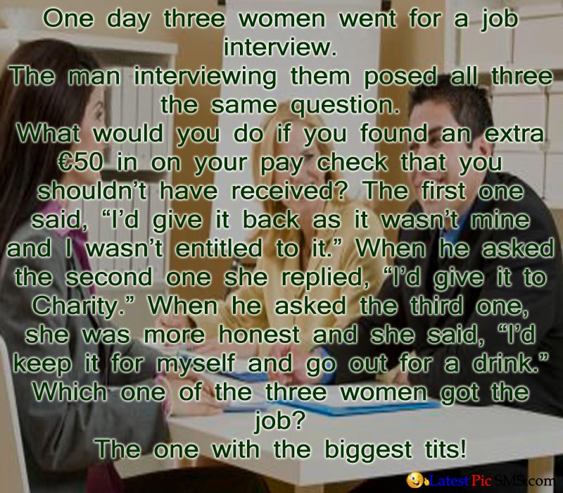 three ladies goes for interview image quote