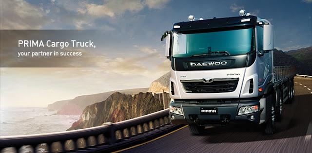 Xe tải 3 chân Daewoo prima 15,5 tấn thùng kín
