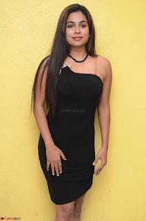 Vrushali Gosavi in strapless Short Black Dress At Follow Follow U Audio Launch 089.JPG