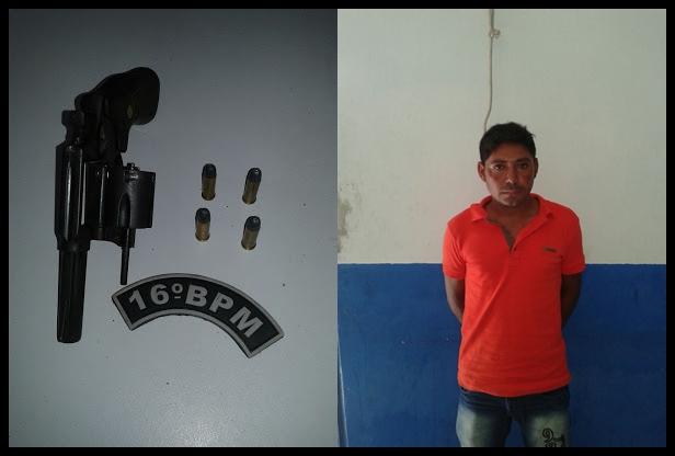 Em Anapurus: Homem é preso por porte ilegal de arma de fogo