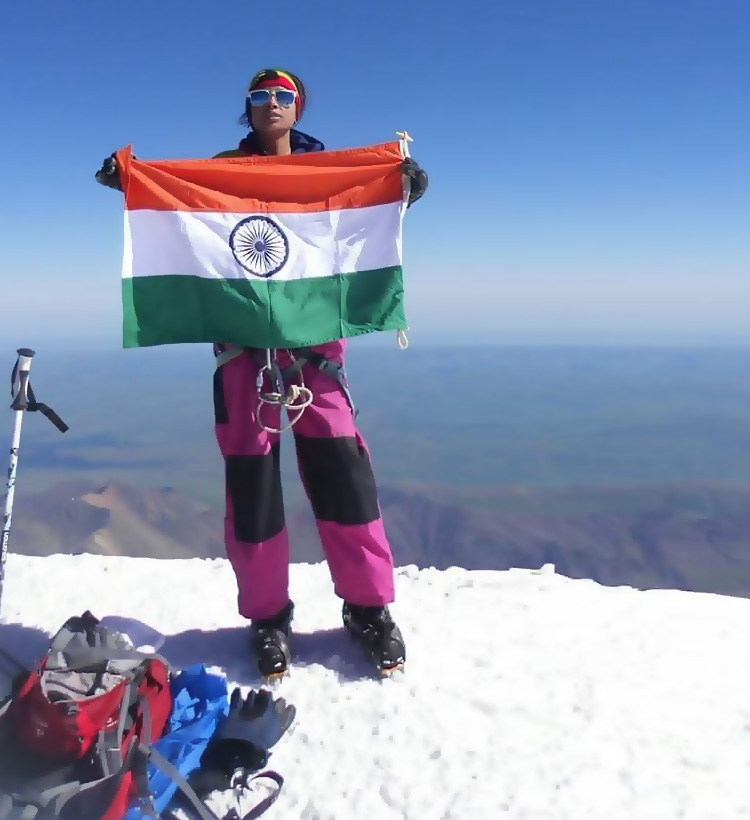 The Youngest Woman To Scale Europe's Highest Mountain Peak