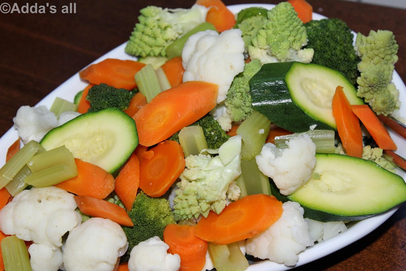 Adda's All : Verdure al vapore