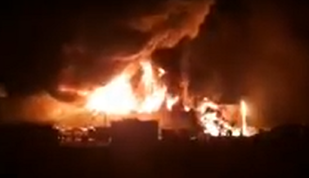 HUGE FIRE IN JUBAIL INDUSTRIAL CITY