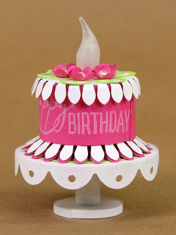 #tealight #clubscrap #birthdaycake & Kayu0027s Keepsakes: Tea Light Cake With Mini Cake Plate