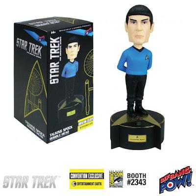 San Diego Comic-Con 2017 Exclusive Star Trek: The Original Series Spock Talking Resin Bobble Head by Bif Bang Pow! x Entertainment Earth