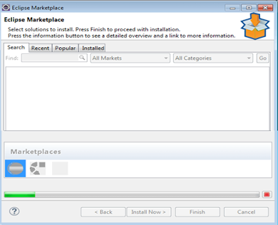 Install eclipse market place