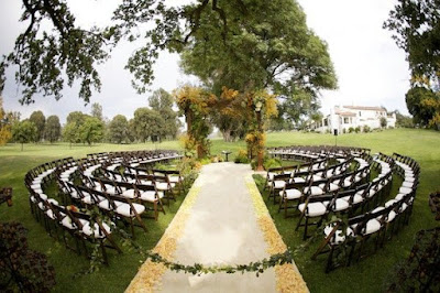 outdoor ceremony set up - wedding planning