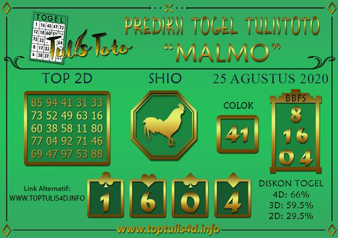 Prediksi Togel MALMO TULISTOTO 25 AGUSTUS 2020