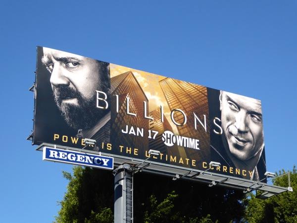 Billions series premiere billboard