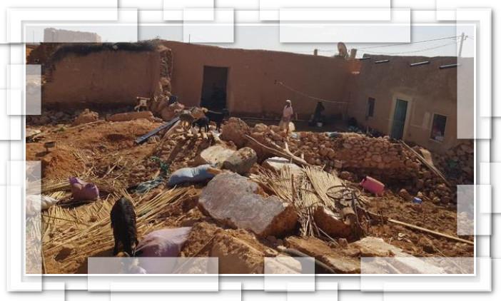 """السيول تشرد ساكنة دوار أولا محمد بإقليم اليوسفية """"صور"""""""