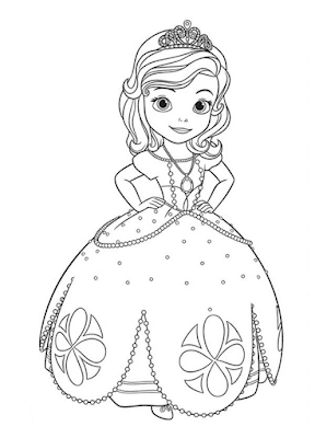 Gambar Mewarnai Putri Sofia - 1