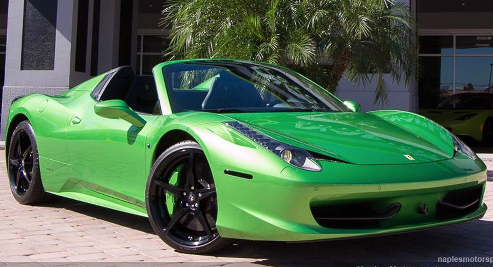 someone paid 27k to have his ferrari 488 spider painted this shade of green 50 pics - Ferrari 458 Spider Green