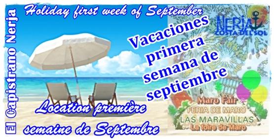 Vacaciones en Nerja primera semana septiembre en El