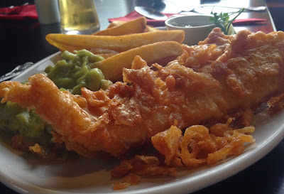 Fish and chips from The Anglers Arms Pub Kielder