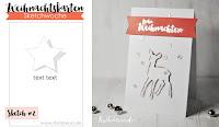 Kartenwind : Weihnachtskarte mit KesiArt Die-Cut und embossten Spruch für die Weihnachtskarten-Sketchwoche von danipeuss #kartenwind #embossing #cardmaking #card #christmascard #xmas #weihnachten #danipeuss
