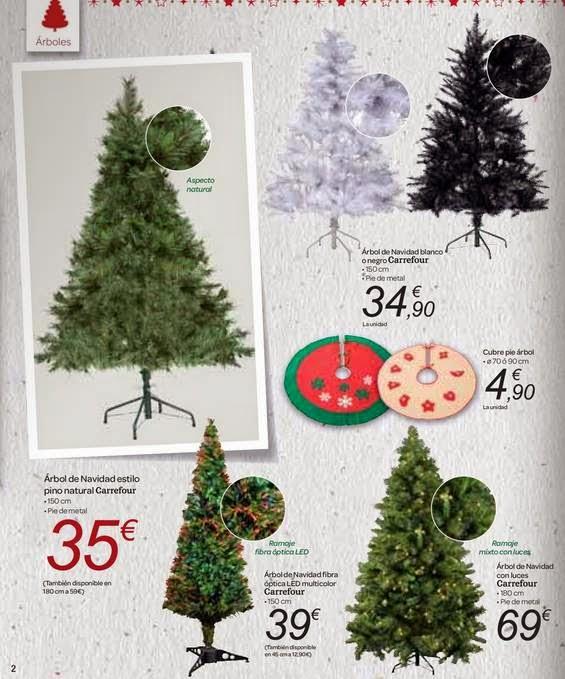 Carrefour Adornos Y Arboles De Navidad 2014