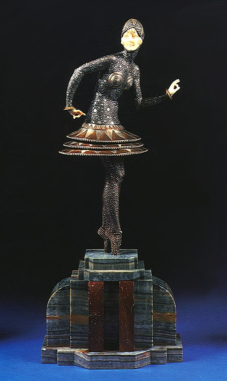 art deco statuette photograph