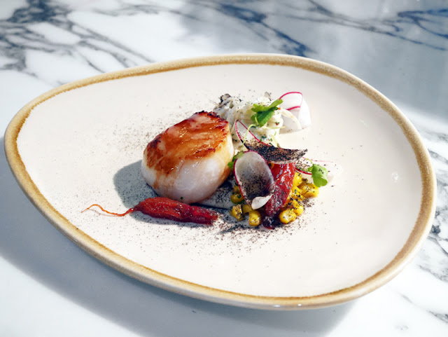 Pike & Pine Brighton Matt Gillan Scallop and radish dish