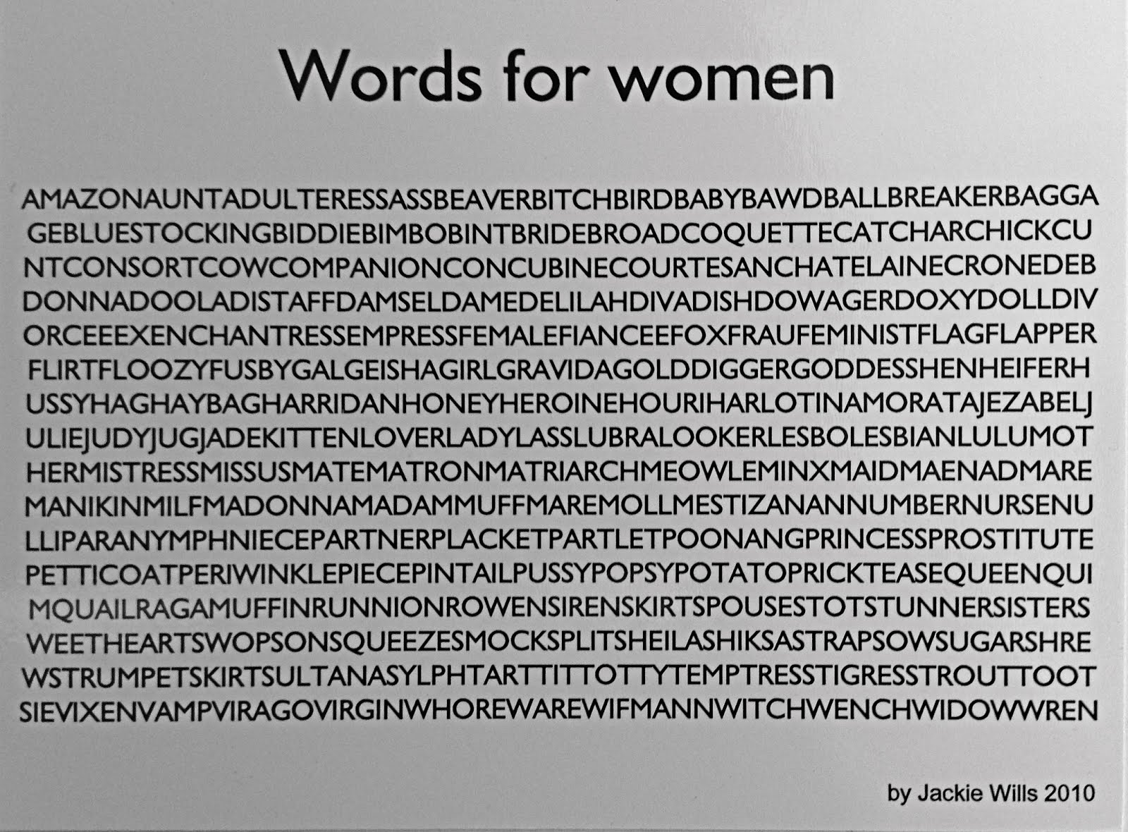Words for women