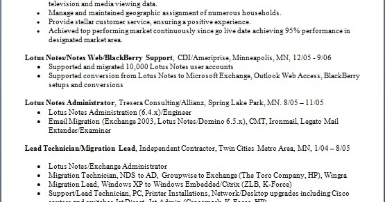 Exchange Administrator Sample Resume Format in Word Free Download