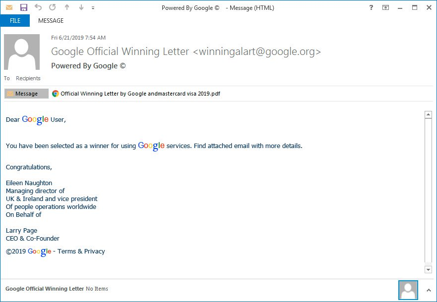 New Phishing Scam Example