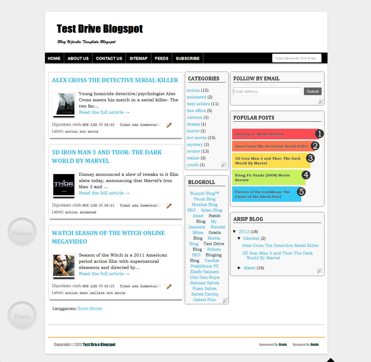 Fast Loading SEO Friendly Template V.04 3 Columns | Blogger SEO Template