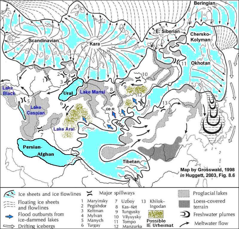 Altai Mountain Map Central Asia