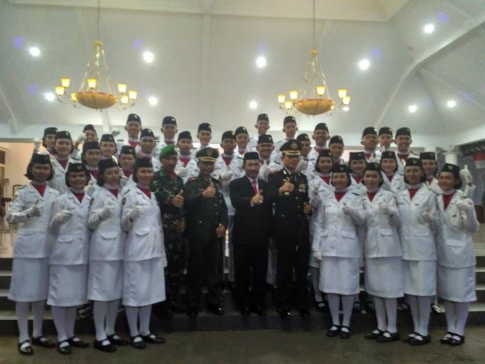 Pelepasan Anggota Paskibra Kabupaten Pati